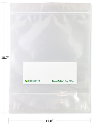 220 oz MicroTally Stand-up Resealable Bag (6.5L)