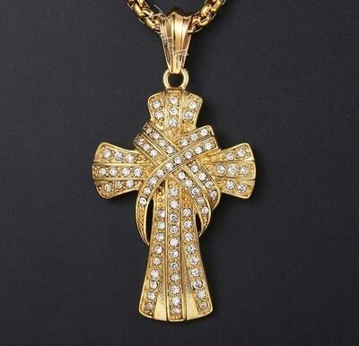 Crucifix Slide CZ Cross Pendant Necklaces