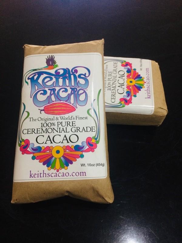 Keith's Cacao Paste - 100% Pure Ceremonial Grade 16oz (454g)