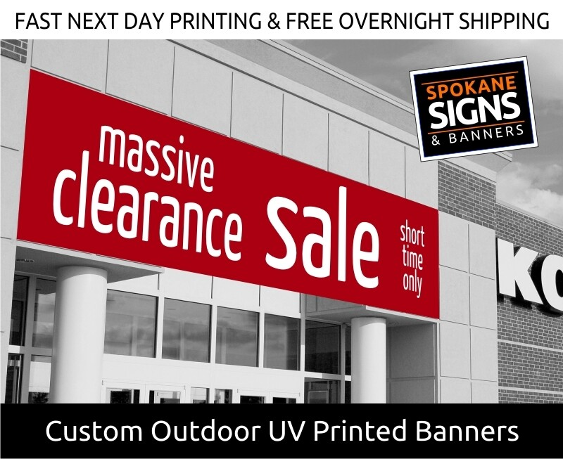 Outdoor UV Printed Rugged Vinyl Banner with Grommets