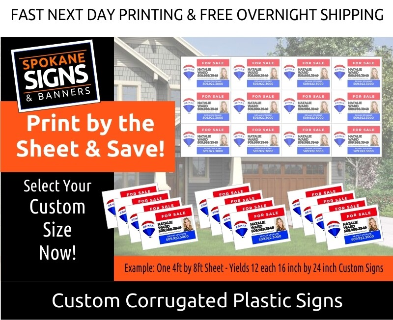 Custom Printed Corrugated Plastic Yard Signs -