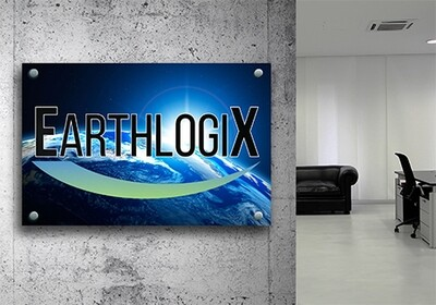 Corporate Office Signs - Acrylic Plexiglass Print with Metal Standoffs