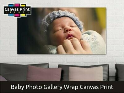 Baby Photo Canvas Print   Gallery Wrap