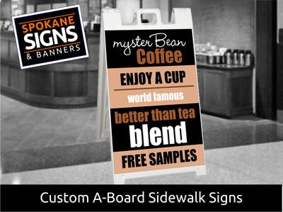 A-Frame Sidewalk Sandwich Board Sign 3' H x 2' W
