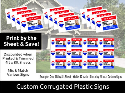 Outdoor 4mm Corex Signs - Print in Bulk & Save