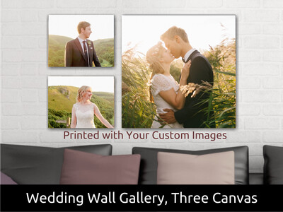 Wedding Wall Gallery | Includes Three Canvases