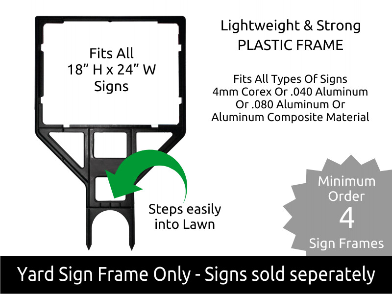 Lightweight - Strong Plastic Yard Frame for 18