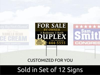 Set of 12 Corex Yard Signs 16