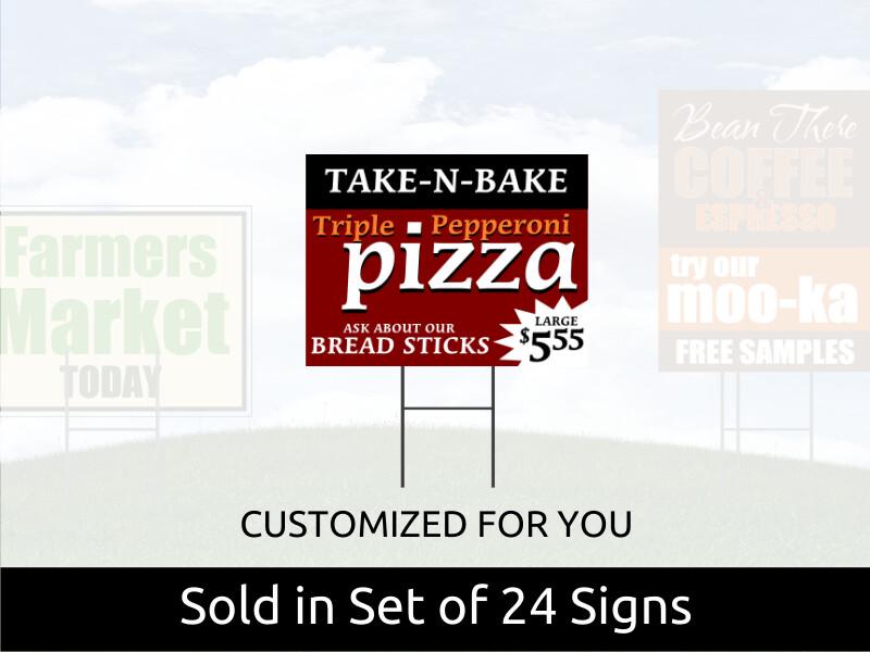 Set of 24 Corex Yard Signs 12