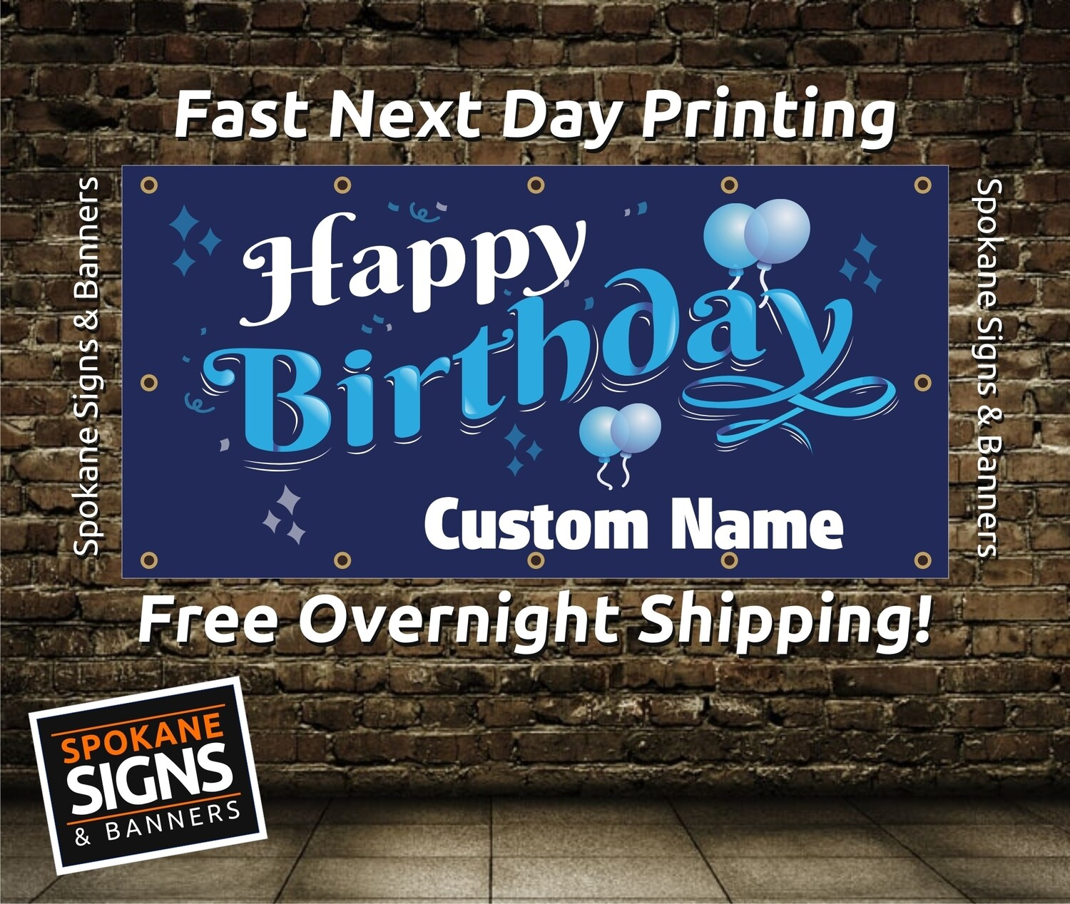 Customize Your Birthday Banner -Get it in your hands in 2 Days