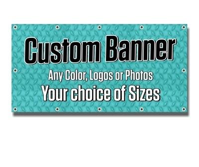Custom Printed Heavy Duty Outdoor UV Banners - 13oz Vinyl Scrim - Next Day Printing - Free Overnight Shipping