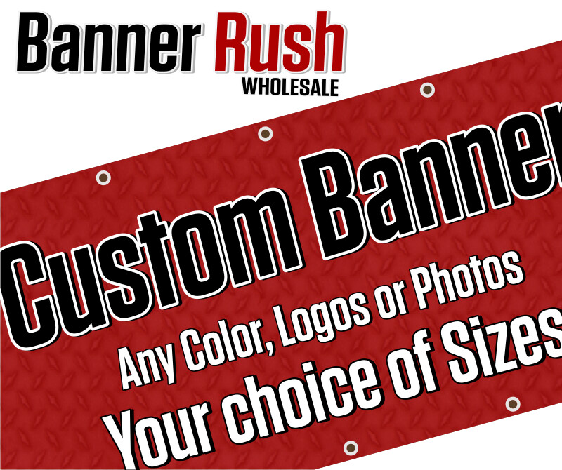 Save 50% WHOLESALE on 13oz Outdoor UV Banners