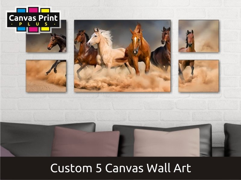 Canvas Wall Art | Covers Five Canvases
