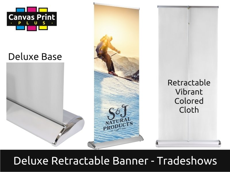DELUXE Retractable Banner Stand