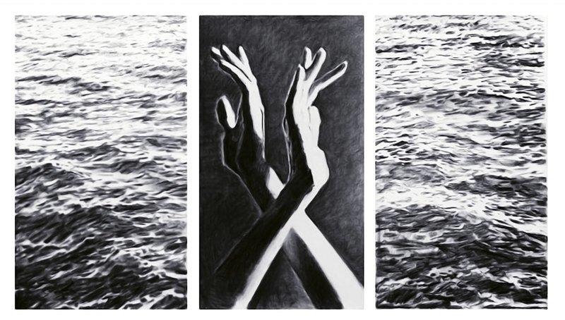 Between Us Tryptic - 3 Separate Digital prints ea. 11 x 17