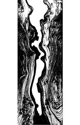 "River Side- Digital Print Poster 20"" H x 6"" W"