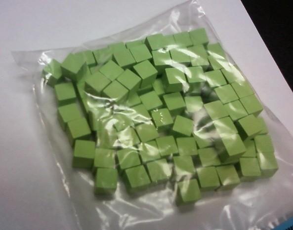 Wooden Cube, 8mm Light Green