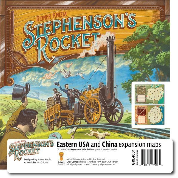 Stephenson's Rocket: Eastern USA and China Expansion Maps