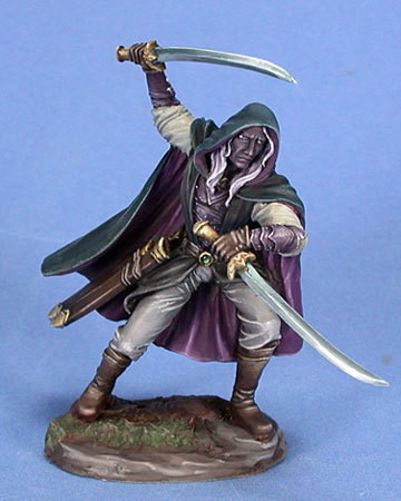 Visions in Fantasy: Male Dark Elf Warrior - Dual Wield