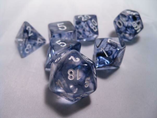 Polyhedral 7-die RPG Set (Chessex) Nebula - Black / White
