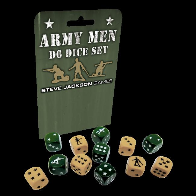 Army Men d6 Dice Set (16mm*12)