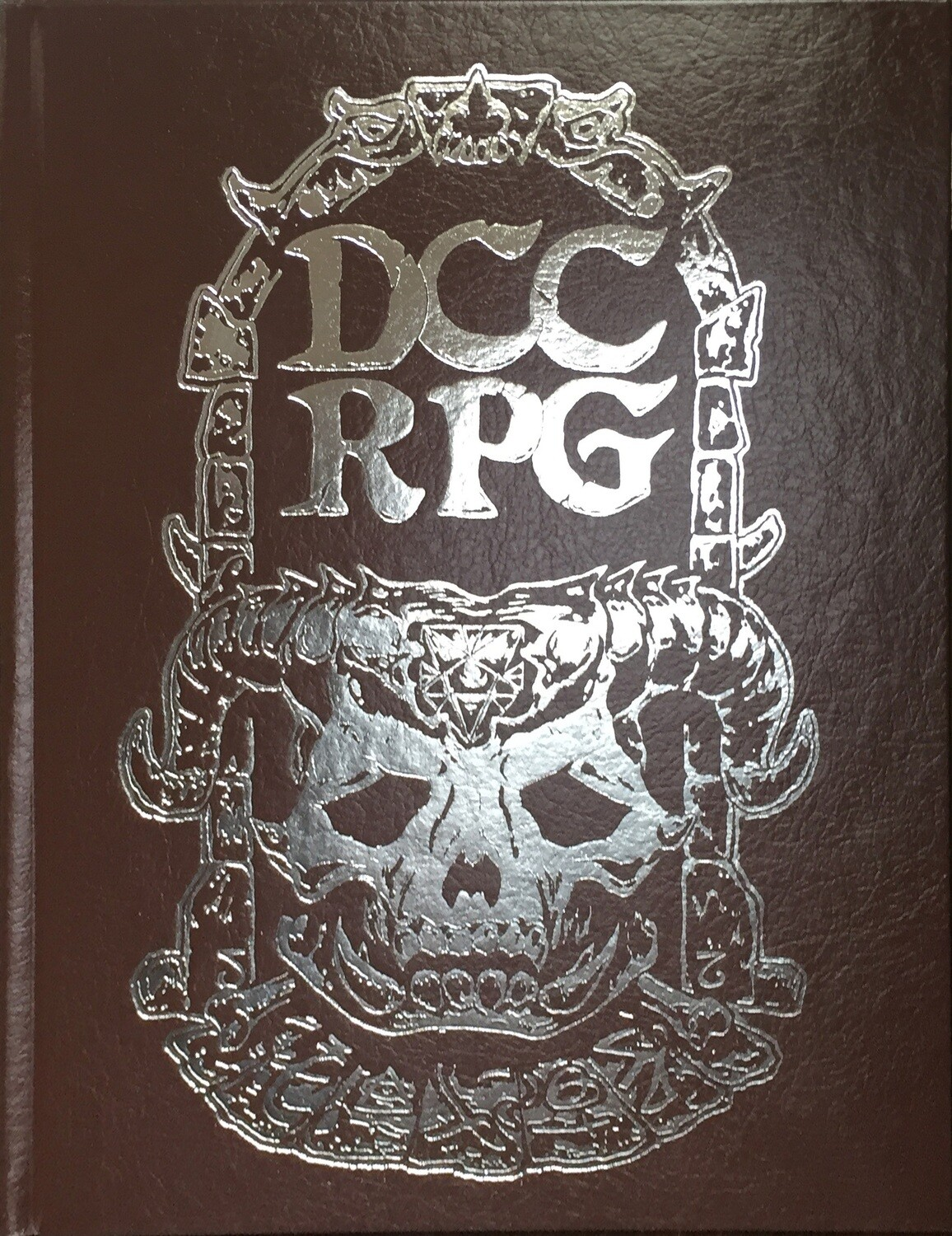 Dungeon Crawl Classics RPG Silver Foil Skull Cover Hardcover Edition (7th Printing)