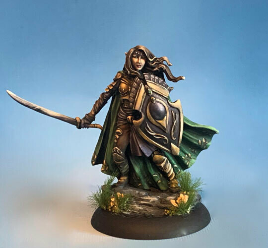Visions in Fantasy: Female Elven Warrior with 2 Weapon Options