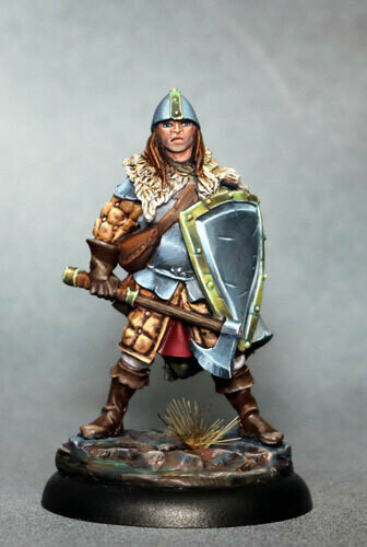 Visions in Fantasy: Male Warrior with Battle Axe and Shield