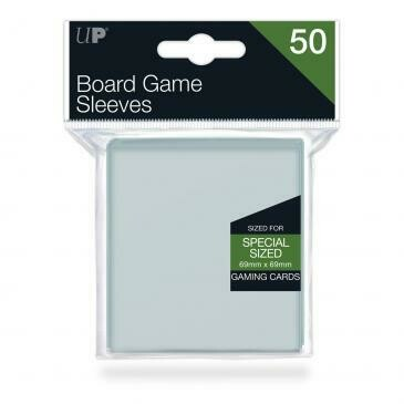 Ultra-Pro Deck Protector Card Sleeves, Board Game Special Size (69mm x 69mm), Clear, 50/pk