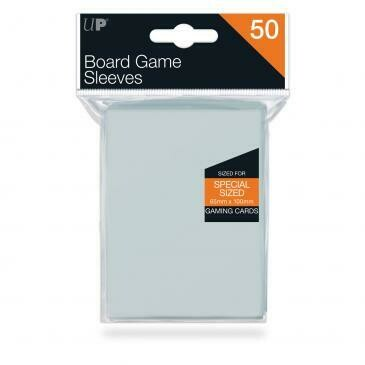 Ultra-Pro Deck Protector Card Sleeves, Board Game Special Size (65mm x 100mm), Clear, 50/pk
