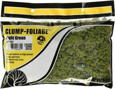 Clump Foliage - Light Green (small bag, 57.7 cu in)