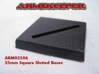 Armskeeper: 25mm Square Slotted Base Mega Pack (80)