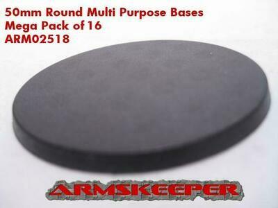 Armskeeper: 50mm Round Base Mega Pack (16)
