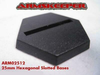 Armskeeper: 25mm Hexagonal Slotted Base Mega Pack (80)