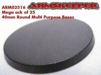 Armskeeper: 40mm Round Base Mega Pack (25)