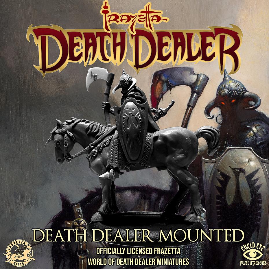 Frazetta World of Death Dealer - Death Dealer Mounted