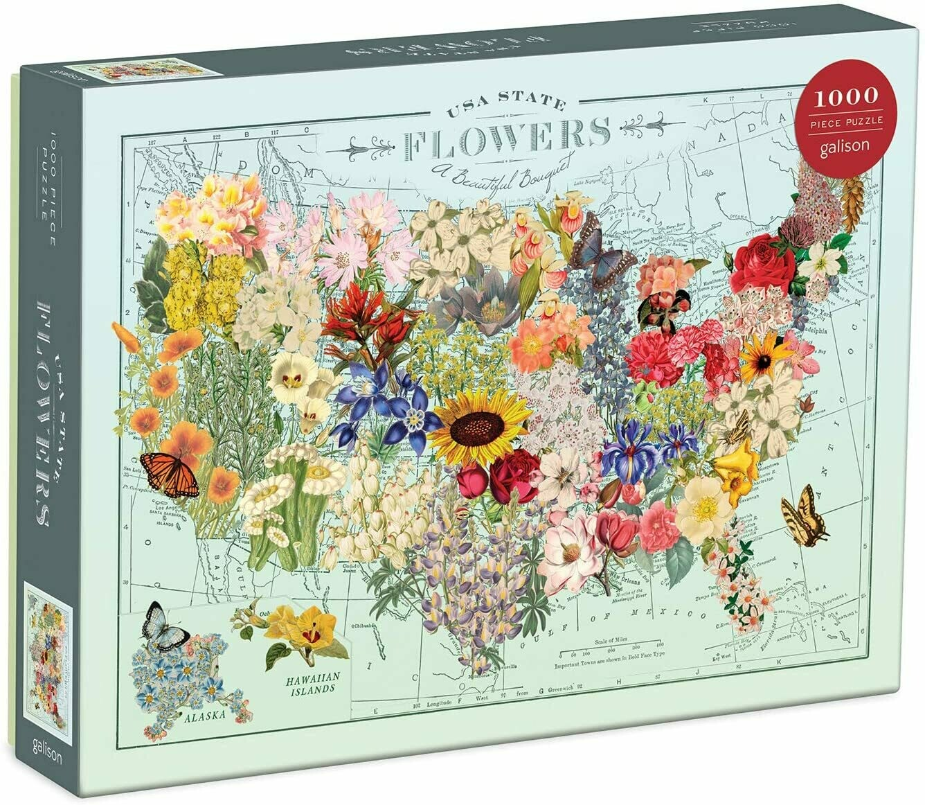 USA State Flowers 1000 Piece Jigsaw Puzzle