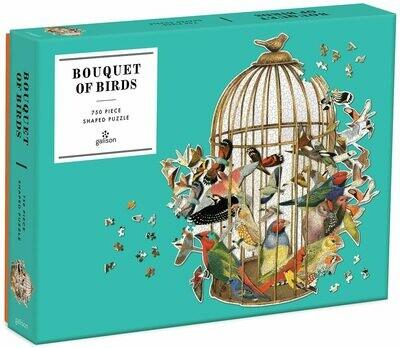 Bouquet of Birds 750 Piece Shaped Puzzle