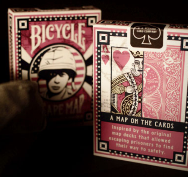 Bicycle Playing Cards: Escape Map, WWII Commemorative Map Deck