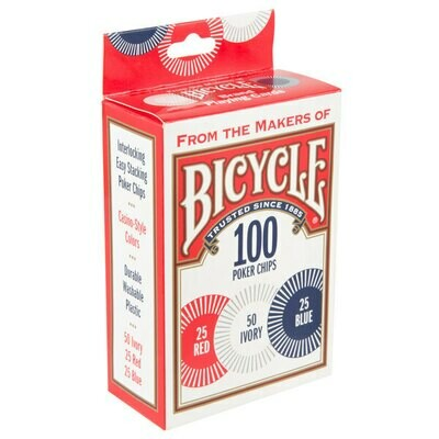 Bicycle Poker Chips (2 gram plastic 100ct)