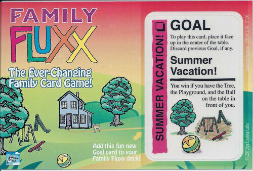 Family Fluxx: Summer Vacation Promo Card