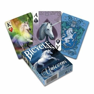 Bicycle Playing Cards: Anne Stokes Unicorns