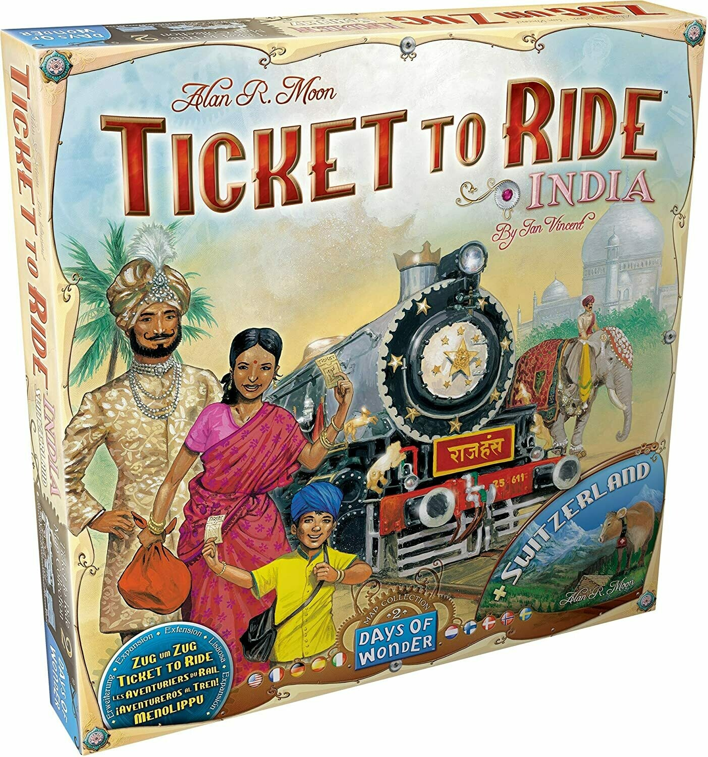 Ticket to Ride Map Collection Volume 2: India and Switzerland