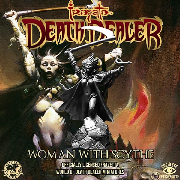 Frazetta World of Death Dealer - Woman with Scythe