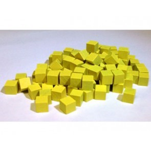 Wooden Cube, 8mm Yellow