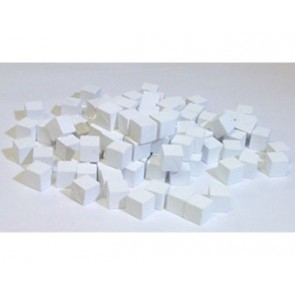 Wooden Cube, 8mm White