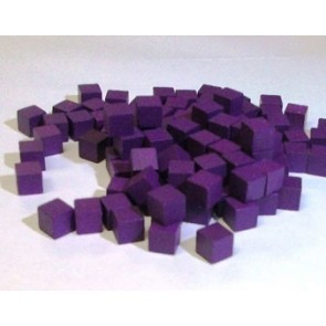 Wooden Cube, 8mm Purple