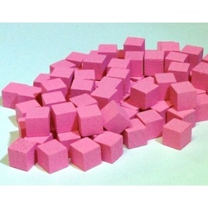 Wooden Cube, 8mm Pink