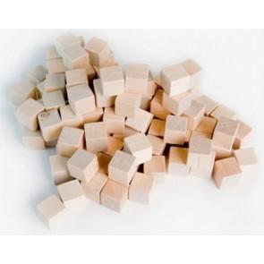 Wooden Cube, 8mm Natural Grain
