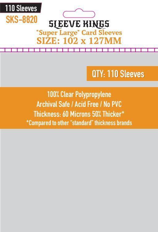 Sleeve Kings Card Sleeves: Super Large 102x127mm, 110 / pack